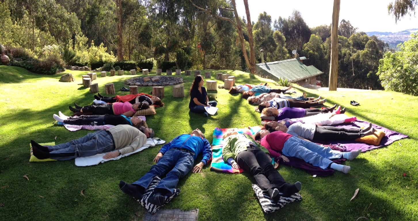 Meditación con grupo de Sanación en Core Energetica